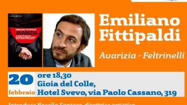 """Emiliano Fittipaldi e il suo libro """"Avarizia"""" a Gioia del Colle"""