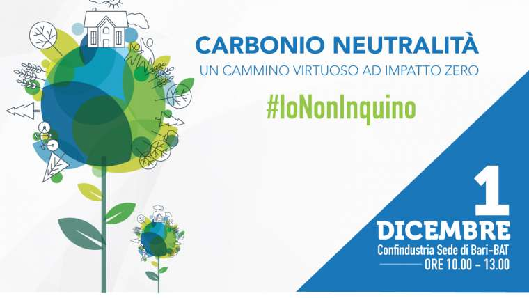 """""""Carbonio neutralità"""": appuntamento in Confindustria il 1° dicembre"""